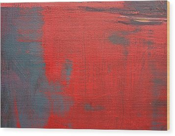 Red Square Dissected Viii  C2010 Wood Print by Paul Ashby