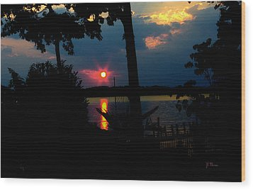 Wood Print featuring the photograph Red Sun by James C Thomas