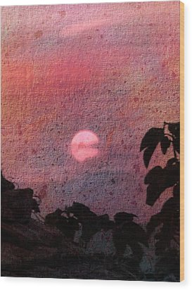 Red Sunset Wood Print by Dorothy Berry-Lound