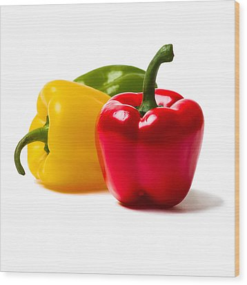 Red Sweet Pepper - Square Wood Print