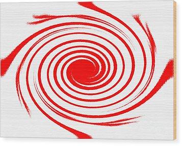 Red Swirl War  Wood Print by Lali Kacharava