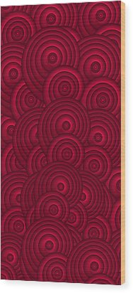 Red Swirls Wood Print by Frank Tschakert