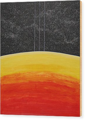 Red To Yellow Spacescape Wood Print