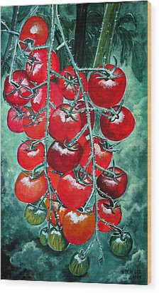 Red Tomatos Wood Print by Huy Lee