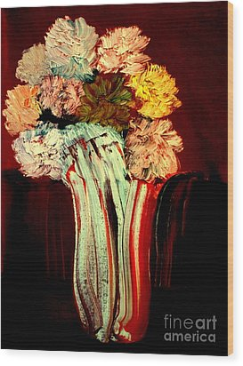 Red Vase 7 Wood Print by Bill OConnor