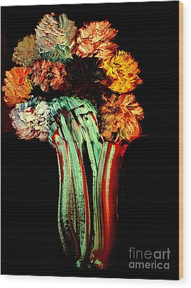 Red Vase Revisited Wood Print by Bill OConnor