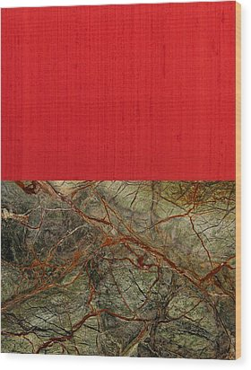 Red Veins Wood Print by Margaret Ivory