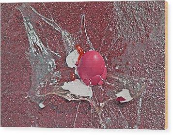 Red Velocity  Wood Print by Betsy Knapp