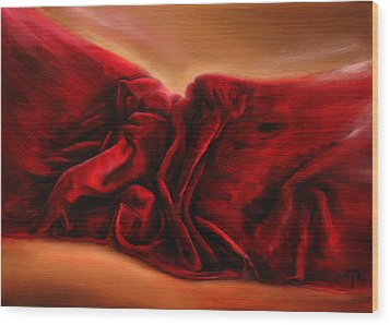Red Velvet Wood Print by Tanya Byrd
