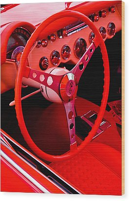 Red Vette Wood Print by Phil 'motography' Clark