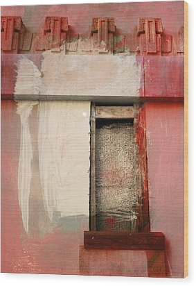 Wood Print featuring the painting Red Wall by John Fish