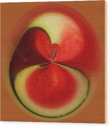 Red Watermelon Wood Print by Cynthia Guinn