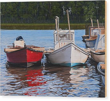 Red White And Blue Wood Print by Rick McKinney
