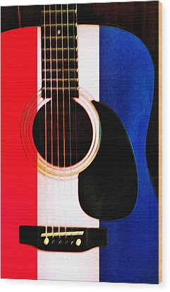 Red White And Blues Wood Print by Bill Cannon