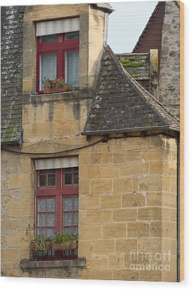 Wood Print featuring the photograph Red Windows by Paul Topp