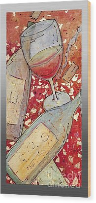 Red Wine I Wood Print