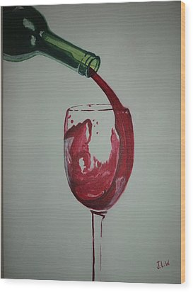 Red Wine Wood Print by Justin Lee Williams