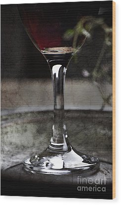 Red Wine Wood Print by Mythja  Photography