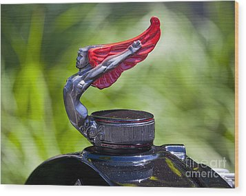 Red Wings Hood Ornament Wood Print by Chris Dutton