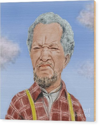 Redd Foxx As Fred Sanford Wood Print