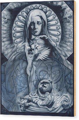 Redemption Wood Print by Luis  Navarro