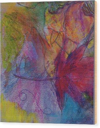 Redgum In Spring Breezes Wood Print by Claudia Smaletz