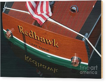 Wood Print featuring the photograph Redhawk by Vinnie Oakes