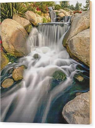Wood Print featuring the photograph Redhawk Waterfall by Robert  Aycock