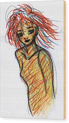 Redhead I Wood Print by Rachel Scott