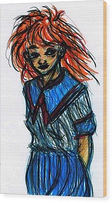 Redhead II Wood Print by Rachel Scott