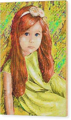 Redhead Wood Print by Jane Schnetlage