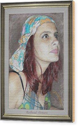 Redhead Wood Print by Pemaro