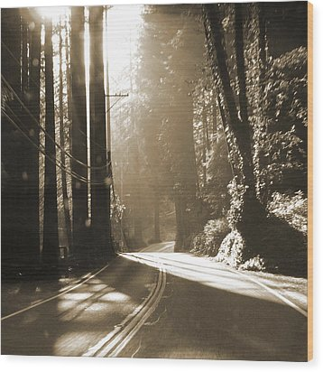 Redwood Drive Wood Print by Mike McGlothlen