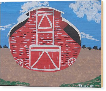 Redwood Farm Barn Wood Print