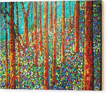Redwood Hillside Wood Print