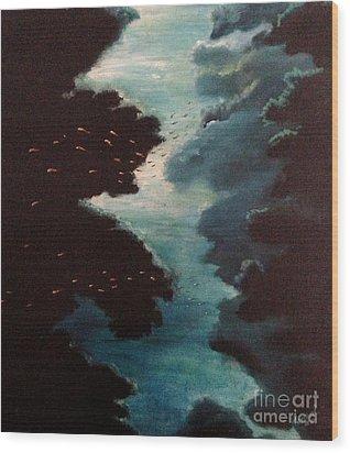 Reef Pohnpei Wood Print by Karen  Ferrand Carroll