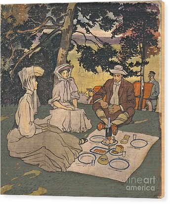 Refined Picnic 1904 Wood Print by Padre Art