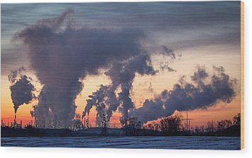 Flint Hills Resources Pine Bend Refinery Wood Print by Patti Deters