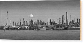 Wood Print featuring the photograph Refinery Might by Ricky L Jones