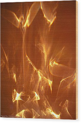 Wood Print featuring the photograph Reflected Angel by Leena Pekkalainen
