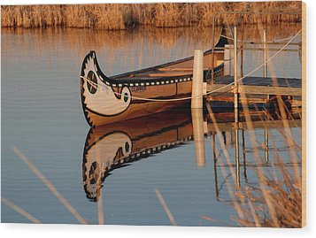 Reflected Wood Print by Larry Trupp