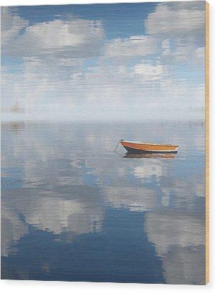 Reflected Shanti Wood Print by Deborah Smith