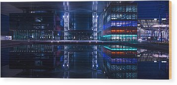 Reflecting Arts And Culture Wood Print by Michael Walker