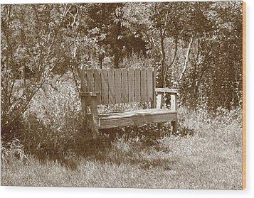 Reflecting Bench Wood Print