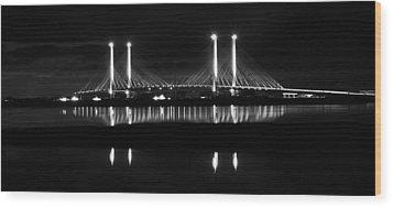Reflecting Bridge Wood Print by William Bartholomew
