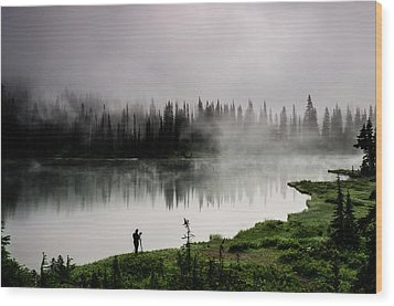 Reflecting On A Moment Wood Print by Brian Xavier