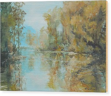 Reflecting On Reflections Wood Print by Elizabeth Crabtree