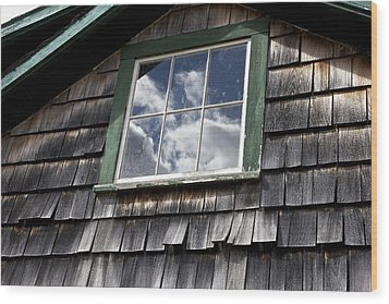 Reflecting Sky Wood Print by Jim Gillen
