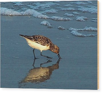 Reflection At Sunset Wood Print by Sandi OReilly