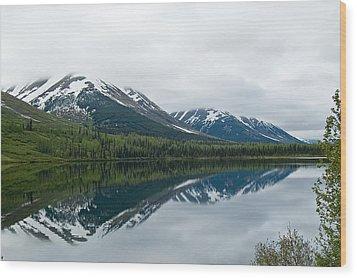 Reflection Montana  Wood Print